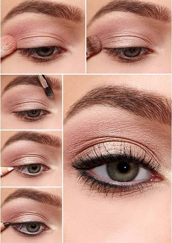 Nude  göz makyajı uygulaması