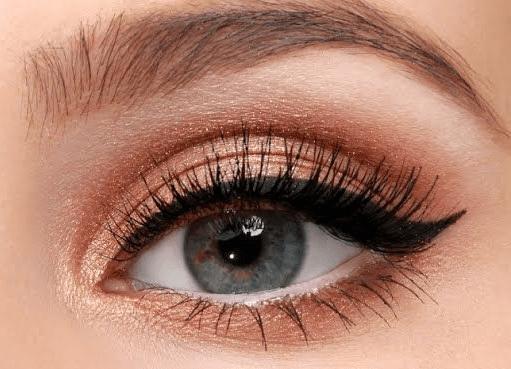 bakır tonlarda göz makyajı nasıl yapılır
