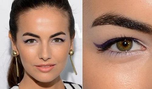 birbirine yakın gözlere eyeliner