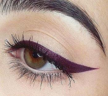 Mor Eyeliner Uygulaması